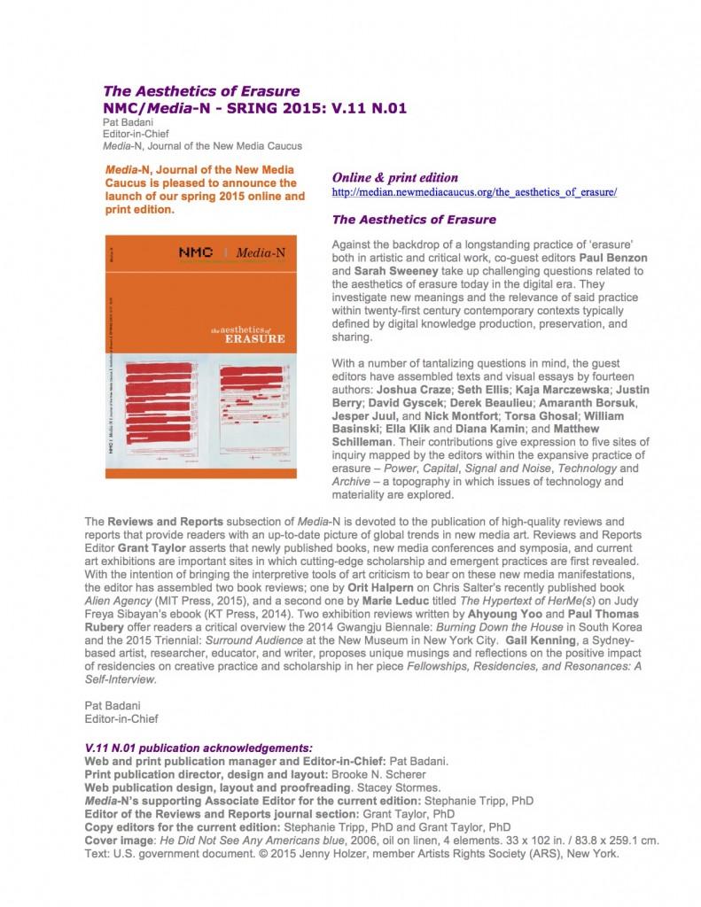 Announcement-spring Edition 2015-Aesthetics-of-Erasure copy